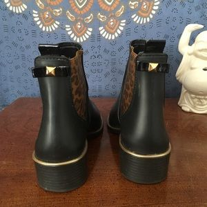 kate spade Shoes - kate spade leopard Sedgwick rain boots